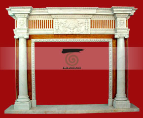 marble fireplace surround in USA style A-FP062