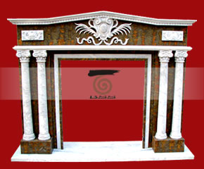 marble fireplace surround in USA style A-FP066