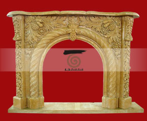 marble fireplace surround in USA style A-FP068