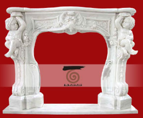 marble fireplace surround in USA style A-FP072