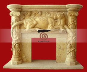 marble fireplace surround in USA style A-FP074