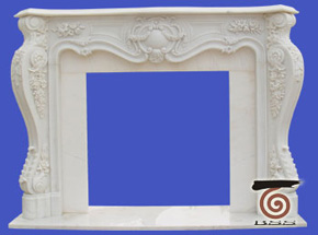 marble fireplace surround in USA style A-FP065