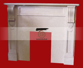 marble fireplace mantel E-FP006