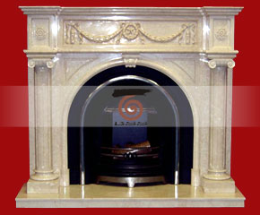 marble fireplace mantel E-FP010