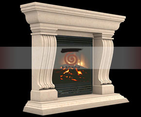 marble fireplace mantel E-FP018