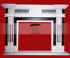 marble fireplace O-FP035 (WFP038)