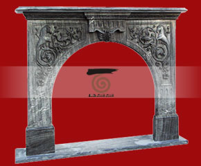 marble fireplace O-FP037 (WFP040)