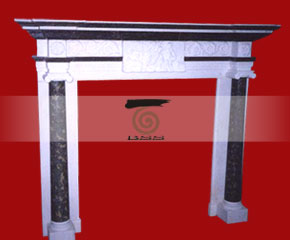 marble fireplace O-FP040 (WFP046)