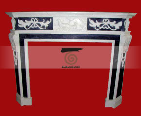 marble fireplace O-FP042 (WFP051)