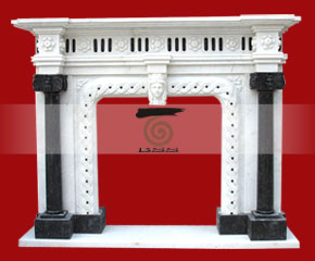 marble fireplace O-FP043 (WFP053)