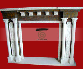 marble fireplace O-FP046 (WFP068)