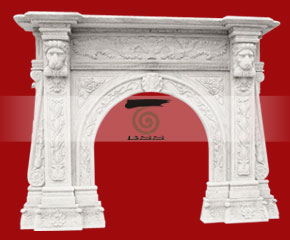 marble fireplace O-FP047 (WFP075)