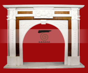 marble fireplace O-FP049 (WFP077)