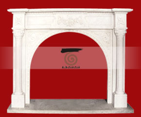 marble fireplace O-FP050 (WFP078)
