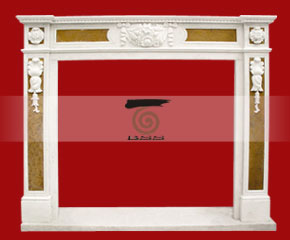marble fireplace O-FP052 (WFP081)