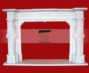 marble fireplace O-FP053 (WFP089)