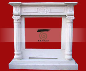 marble fireplace O-FP054 (WFP091)